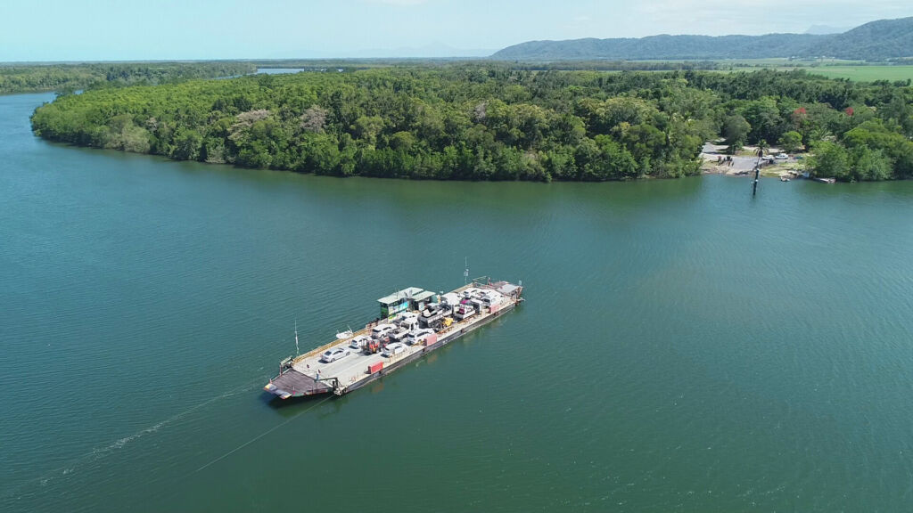 Daintree River Ferry Crossing, Queensland. Image by Douglas Shire Council