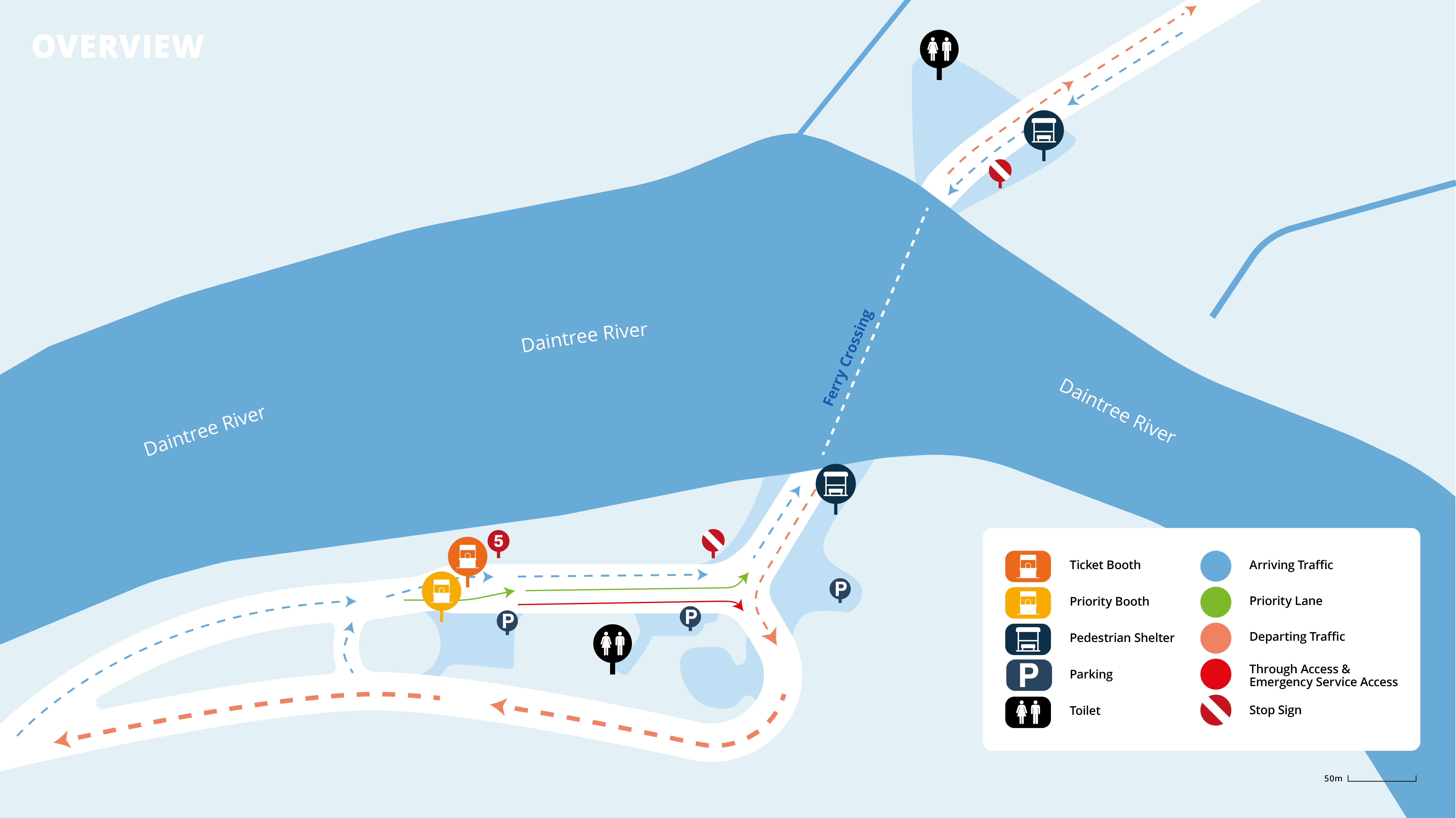 Daintree Ferry Map and Road Plan